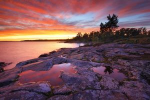 Red Skies over Bamford Island by tfavretto