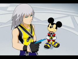 Riku + King Mickey - 2D Style by YuukiHikari