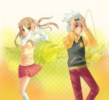 Soul and Maka by Kadane