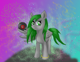 Bass Thump is ready to spin some tunes! by DragonsAndDreamscape
