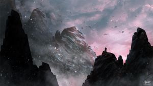 Mountains and Ashes - Speed Painting by So-watt
