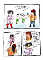 Team Gai's Winter Holiday p.1 by sharingandevil