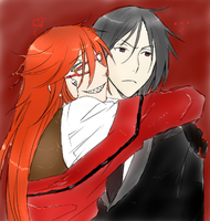 Grell n' Sebby by ThePowerfulRamenGirl