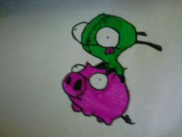 Gir and Piggy by Wallsofjericho316