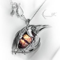 IGNISTHAR DRACO - silver and labradorite by LUNARIEEN