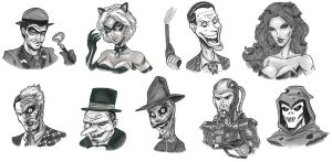Mitchatt-Batman Villain Set by mitchatt