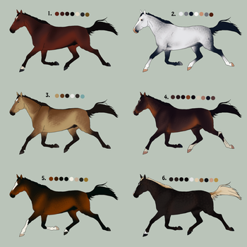 Horse Adoptables 3 CLOSED by ShockTherapyStables