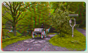 Carriage ride into the woods 3D ::: HDR Anaglyph by zour