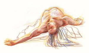 Life drawing January 22, 2007 by bigbigtruck