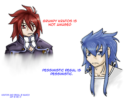 Kratos and Regal by Loneychan