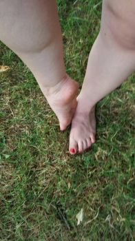 Barefoot in the Grass by BlackwingCosplay
