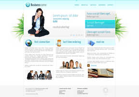 Business FREE PSD Template by okiz