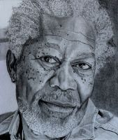 Morgan Freeman by SophieReddyArt