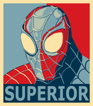 Superior Spider-Man Obama hope style poster by Adam-Grant