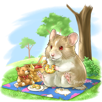 Com: Picnic with Teddy by Pawlove-Arts