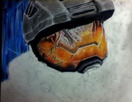 Master chief WIP 2 again by poisonnova