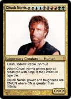 Chuck Norris MTG by Atsuma-Lawliet