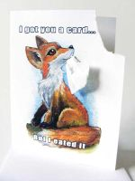 Red Fox -  I Got You A Card But I Eated It by sobeyondthis