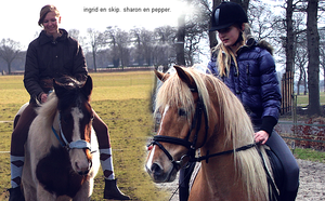 Me and one of my friends and our horses by Esaqar