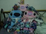 A Pile of Stitch and Angel by unknownlifeform