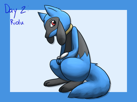 Day 2: Riolu by EarthBound-Hat