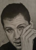 Logan Lerman - Portrait by LeyuArt