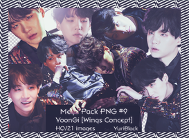 Mega Pack PNG #9 - Suga of BTS [Wings Concept] by YuriBlack