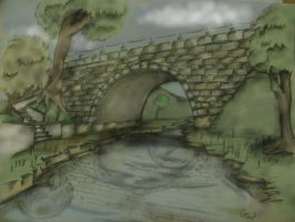 old Iron forger Bridge -color- by ownerfate