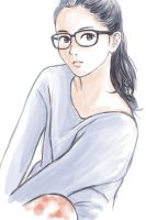 Girl with glasses and ponytail hairstyle by cocon