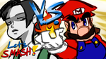Let's SMASH! WFT VS MARIO!! by Tanooki128