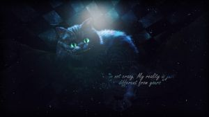 Cheshire Cat Wallpaper by Gillfeesh