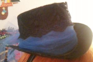 Mini tophat blue tulle(front) by Rainbowkitty-Designs