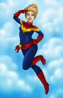 Captain Marvel by msciuto