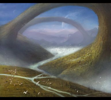Fantasy Landscape Painting by misi006