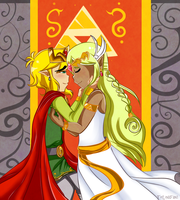 BotW Countdown day 4: King and Goddess by TeLinkfan1