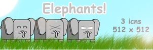 Elephants by SL05NED