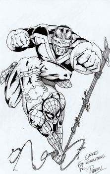 Spidey and CB by willow616