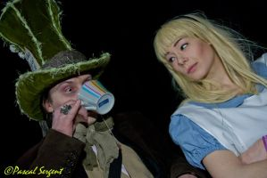 Alice and Mad Hatter by Mlle-Cle-Art
