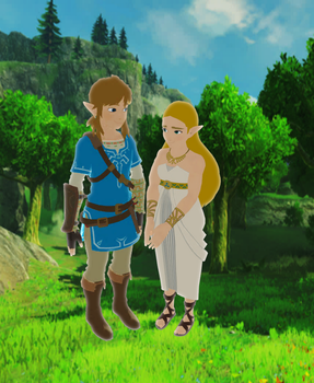 Link and Zelda Breath of the Wild (MMD and XPS) by 9029561