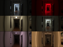 Silent Hills P.T. mansion light tests by 600v