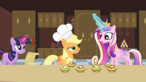 Helping with the cake Cadence? by SawyerMoonKitty