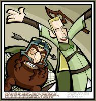 Gimli and Legolas laff it up by yooki42