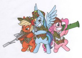 Delta Pony Force by MohawkRex