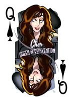 Cher [Queen of Spades] by inkjava