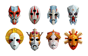 Masks of gods by masacrar