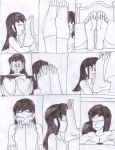 Aiza and Raizu Foot Comic Uncolored Pg.2 by LeinadWorks