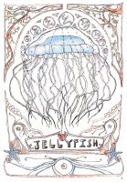 Art Nouveau Jellyfish by Goats-On-A-Boat