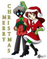 Steffi and Tomoe for Christmas by ArthurT2013