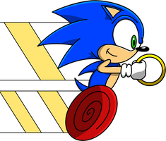 Sonic Zooming Render by Sonic-Gal007