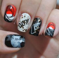 James Bond Inspired Nail Art by MadamLuck